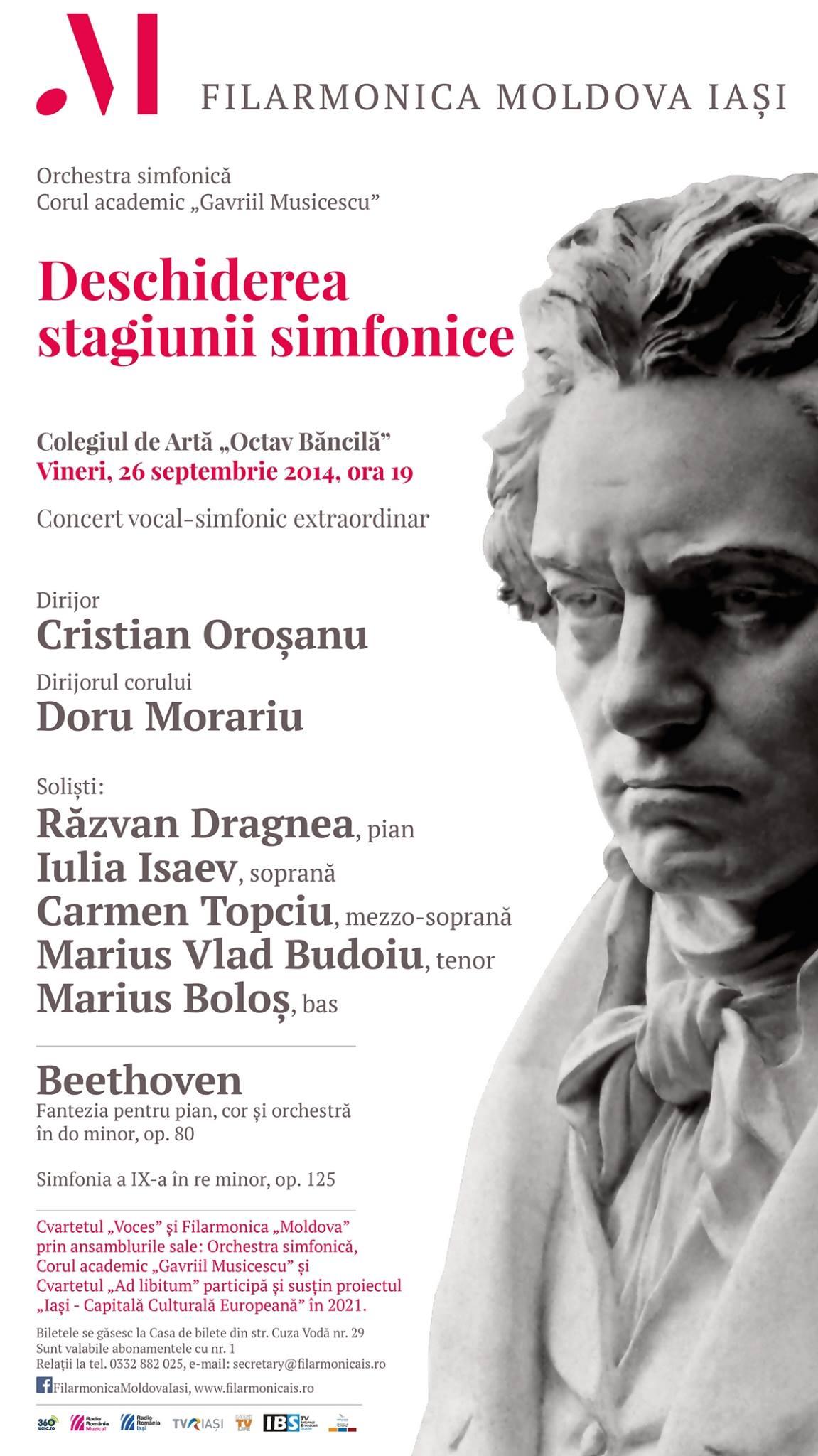 Deschiderea stagiunii simfonice 2014-2015 a Filarmonicii Moldova din Iași