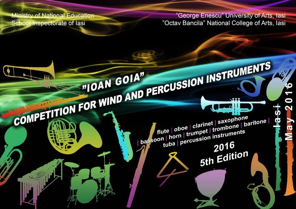 Concurs Ioan Goia 2016 afis