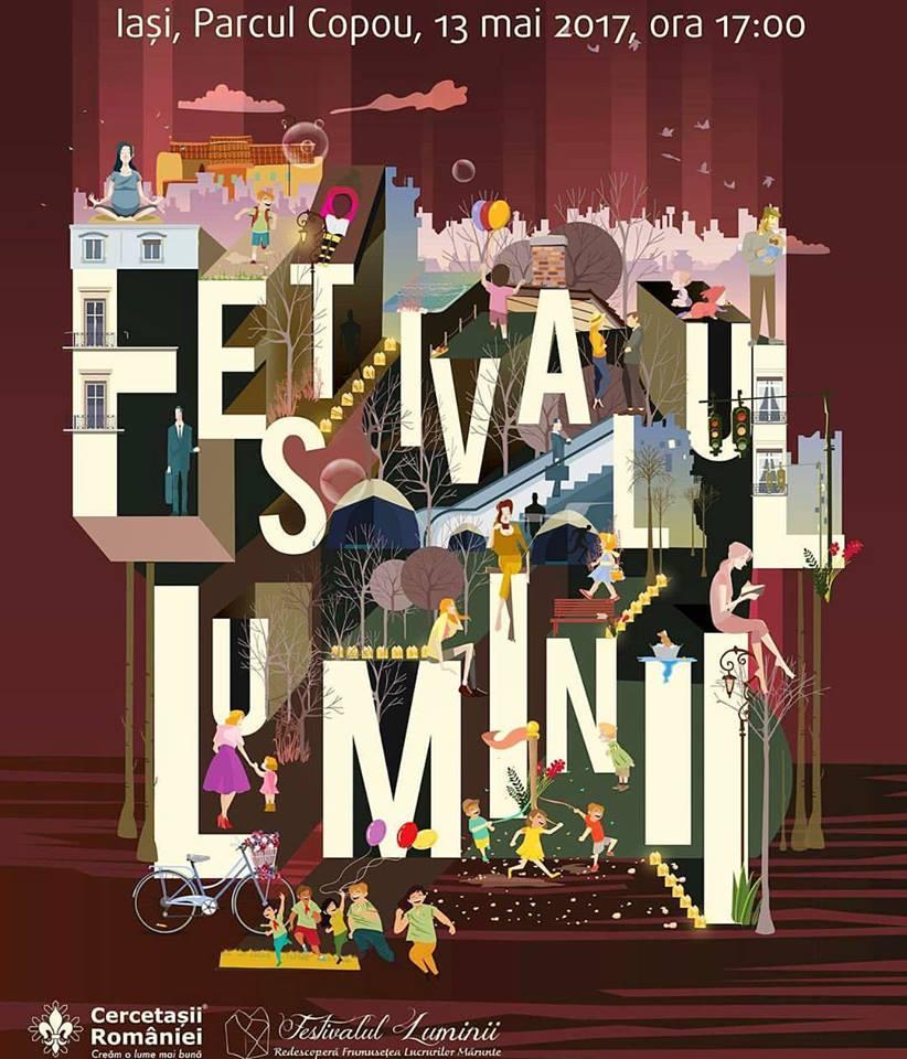 Afis festivalul Luminii 2017