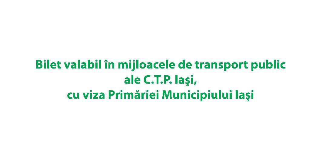 Bilet CTP RomanIA Autentica - verso