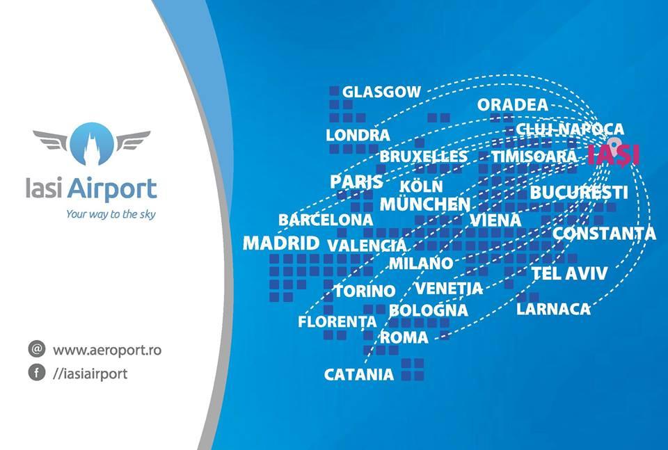 rute de la IASI Airport